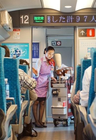 inside shinkansen